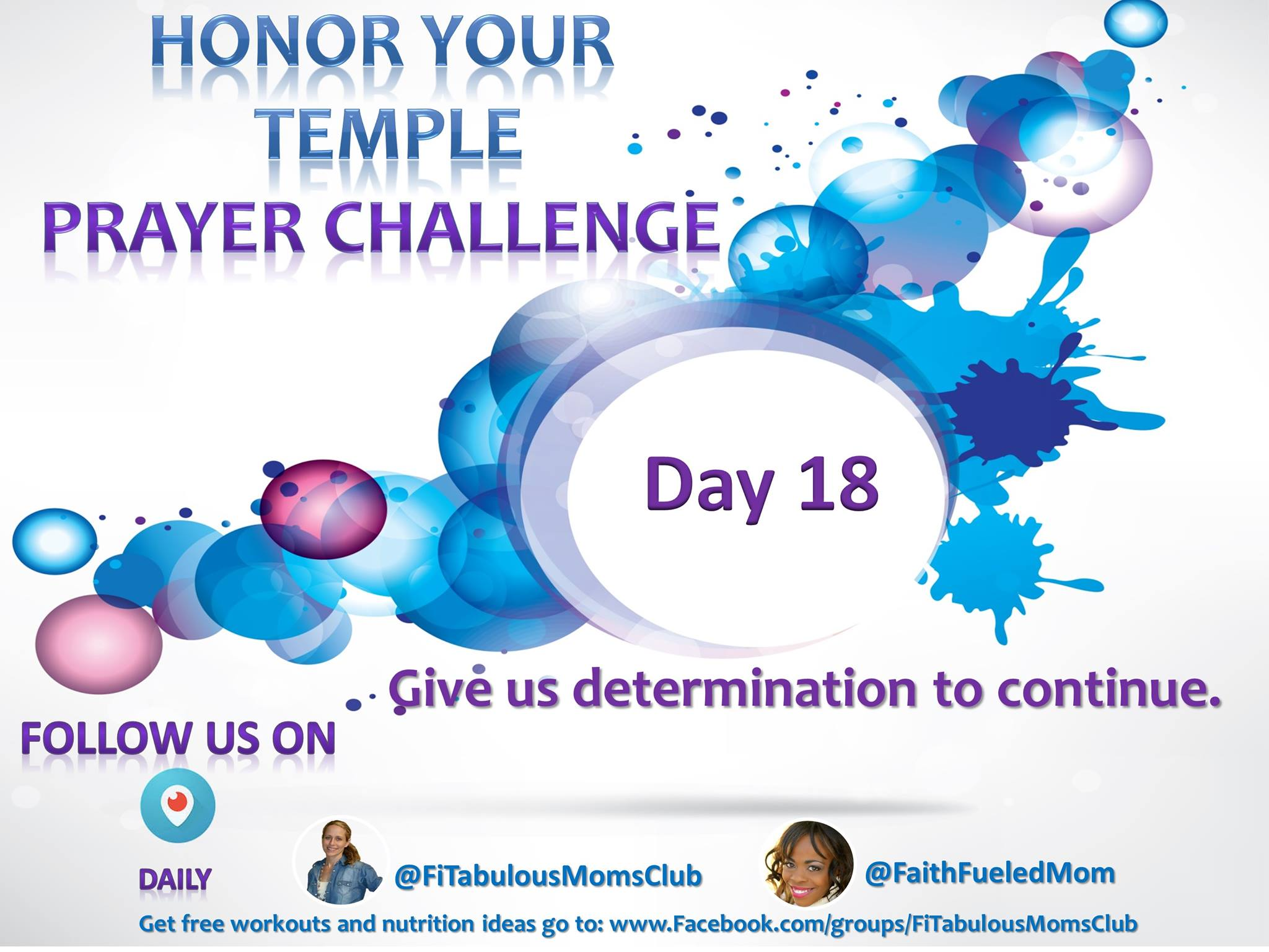 Day 18 Honor Your Temple Prayer Challenge