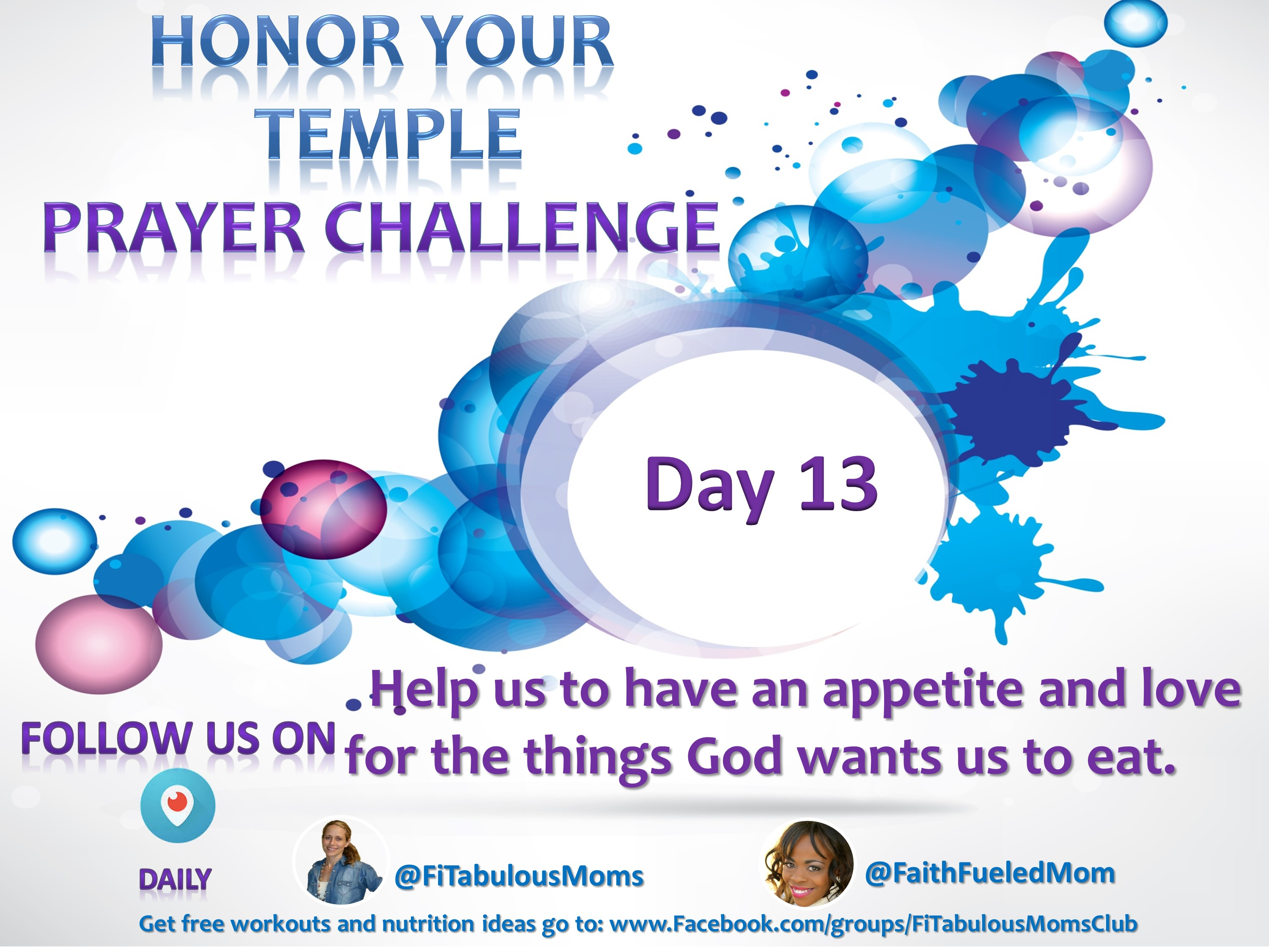 Day 13 Honor Your Temple Prayer Challenge