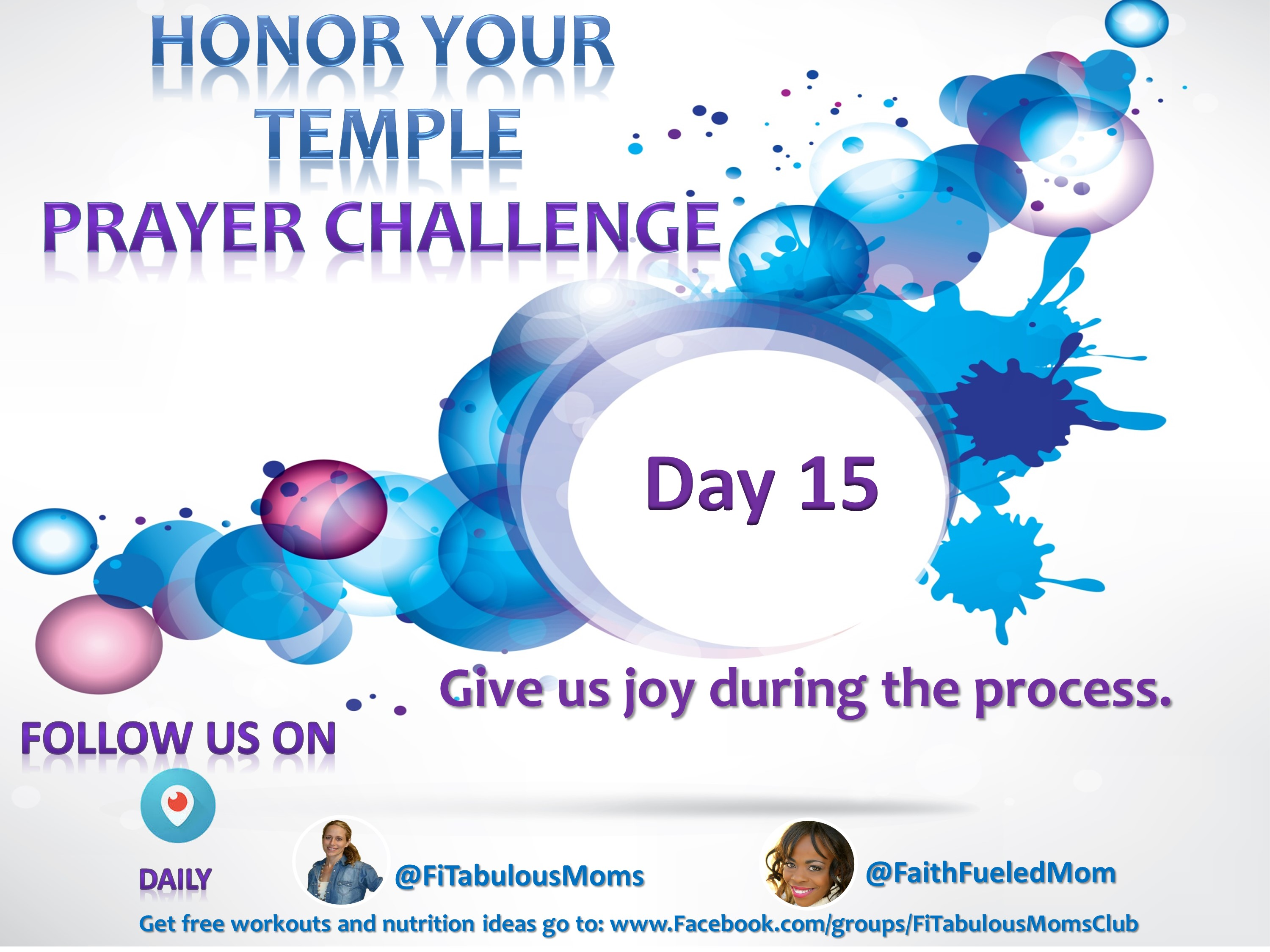 Day 15 Honor Your Temple Prayer Challenge