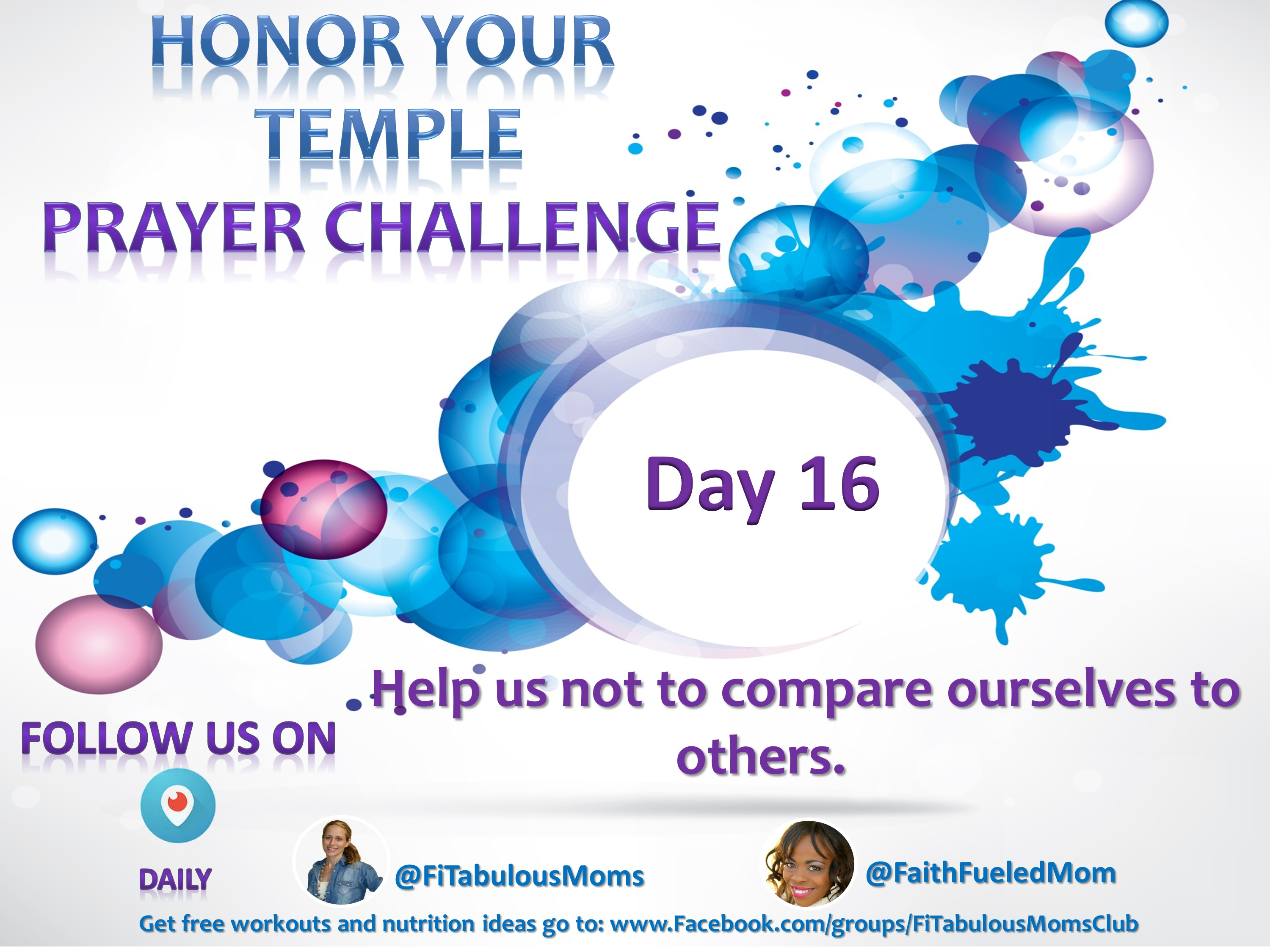 Day 16 Honor Your Temple Prayer Challenge